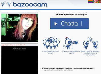 1x1.trans Nuova video chatroulette italiana: Bazoocam