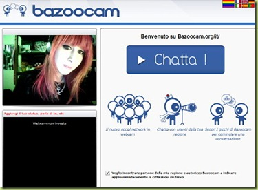 video chatroulette italiana bazoocam thumb Nuova video chatroulette italiana: Bazoocam