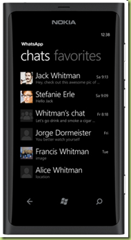 applicazioni sms nokia lumia 800