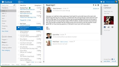 Outlook com thumb Microsoft abbandona Hotmail per trasferire la sua webmail in Outlook.com