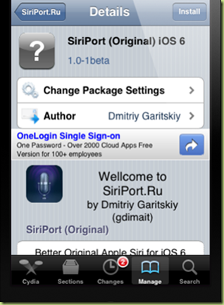 SiriPort original iOS 6 cydia thumb Come installare iOS 6 Siri su iPhone 4