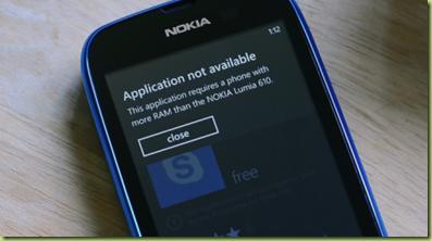 Skype Lumia 610