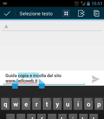 Copia Incolla su Android