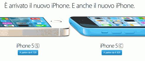 Comprare iPhone 5S e iPhone 5C in Italia