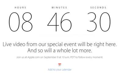 Live Streaming Evento Apple 9 settembre 2014