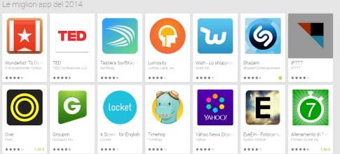 Le migliori applicazioni Android 2014